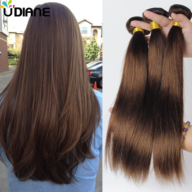 Cheap Peruvian Virgin Hair Straight Human Hair Extensions 4pcs Light