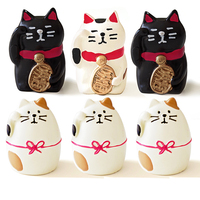 New Cute Japanese Lucky Cat Creative 3D Fridge Magnets Travel Souvenirs Refrigerator Magnetic Sticker Home Decoration
