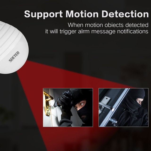 FishEye Home Security CCTV Camera 360 Degree Night Vision Support 128GB 2