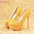 2016 новинка роскошный горный хрусталь т-шоу модель высокие каблуки женщин туфли на высоком каблуке весной алмаз свадебные туфли платформы пром ну вечеринку обувь