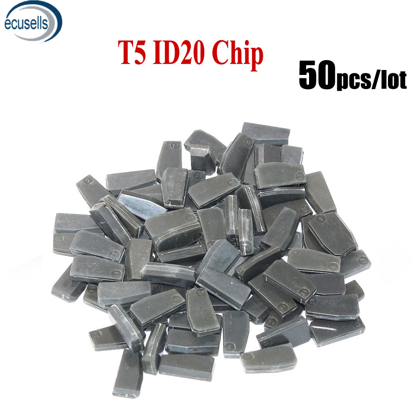 50PCS LOT T5 ID20 Carbon Auto Transponder Chip Ceramic Car Chip Blank Key Chip avaliable change