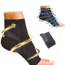 Dropshipping Cómodos calcetines de compresión de pie Anti fatiga para mujeres, manga elástica para hombres, Calcetines para mujeres, alivio de tobillo hinchado sokken P0252