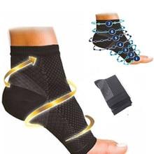 Dropshipping conforto pé anti fadiga mulheres meias de compressão manga elástica masculino meias feminino aliviar swell tornozelo sokken p0252