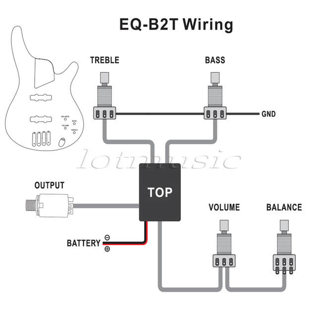 belcat 2 band active eq preamp circuit for bass pickup 1 volume 2 tone  pots-in guitar parts & accessories from sports & entertainment on  aliexpress com