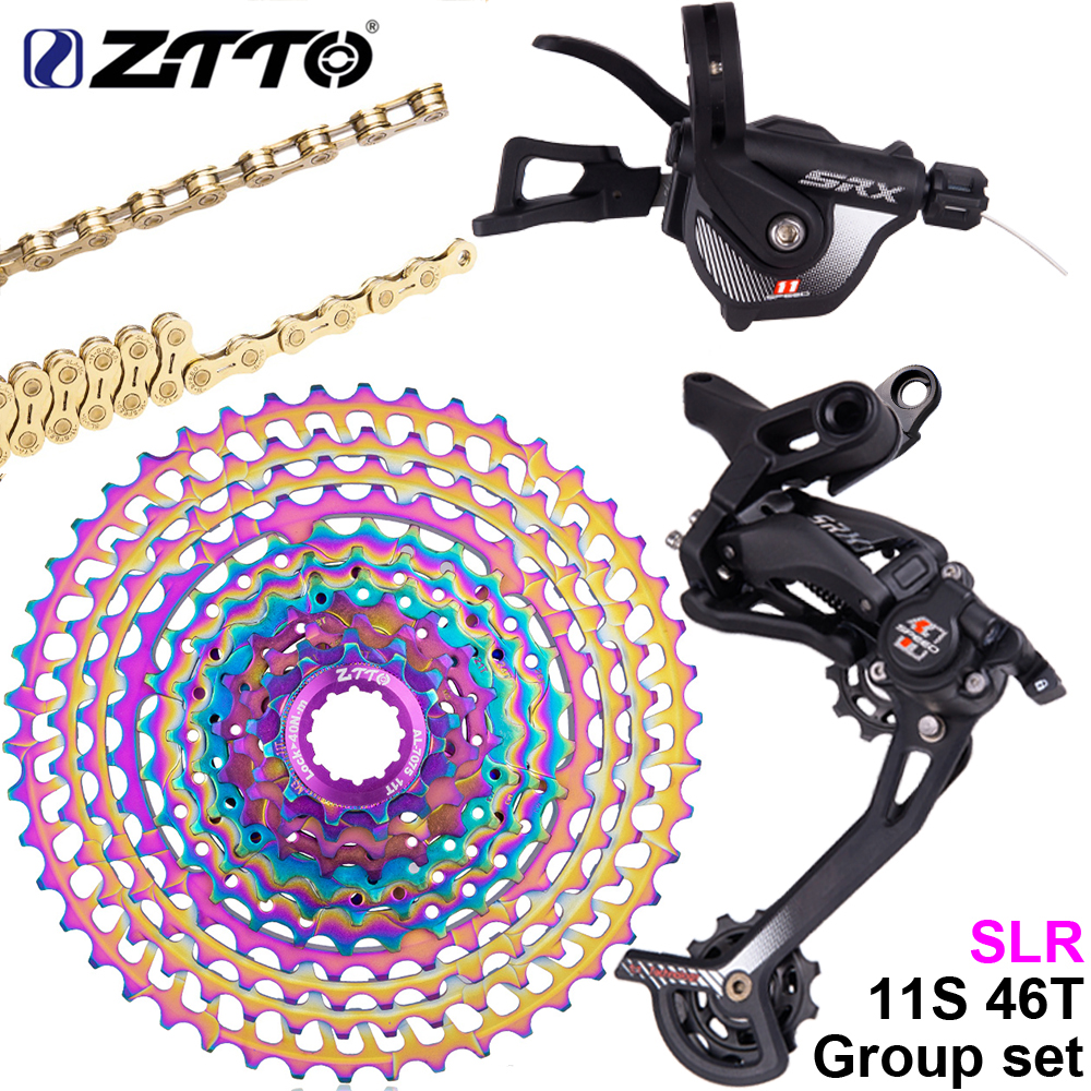 Glorious Ztto Srx 1*11 Speed Mtb Shifter Group Set Mountain Bike 11s Long Cage Bicycle Rear Derailleur With Lock 46t Cassette And Chain Jade White
