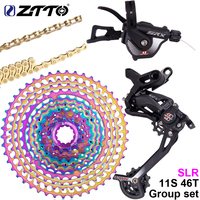 ZTTO SRX 1*11 Speed MTB Shifter Group Set Mountain Bike 11S Long Cage Bicycle rear Derailleur With Lock 46T Cassette and Chain