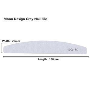 Image 2 - 100 ชิ้น/ล็อตเล็บแฟ้ม 100/180 กระดาษทรายฟองน้ำขัดเล็บบัฟเฟอร์บล็อกด้าน Cuticle Remover เครื่องมือทำเล็บมือ