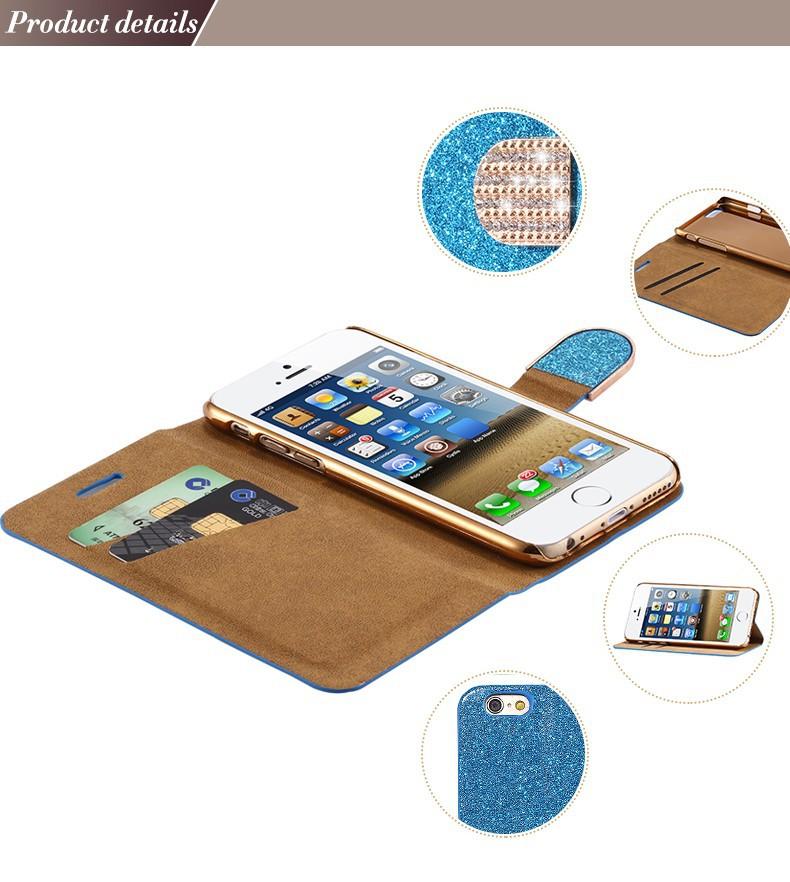 Kisscase dla iphone 5s case glitter bling skórzane etui dla iphone 5 5s se 6 6 s 7 plus stań portfel pokrywa dla iphone 7 7 plus SE 7