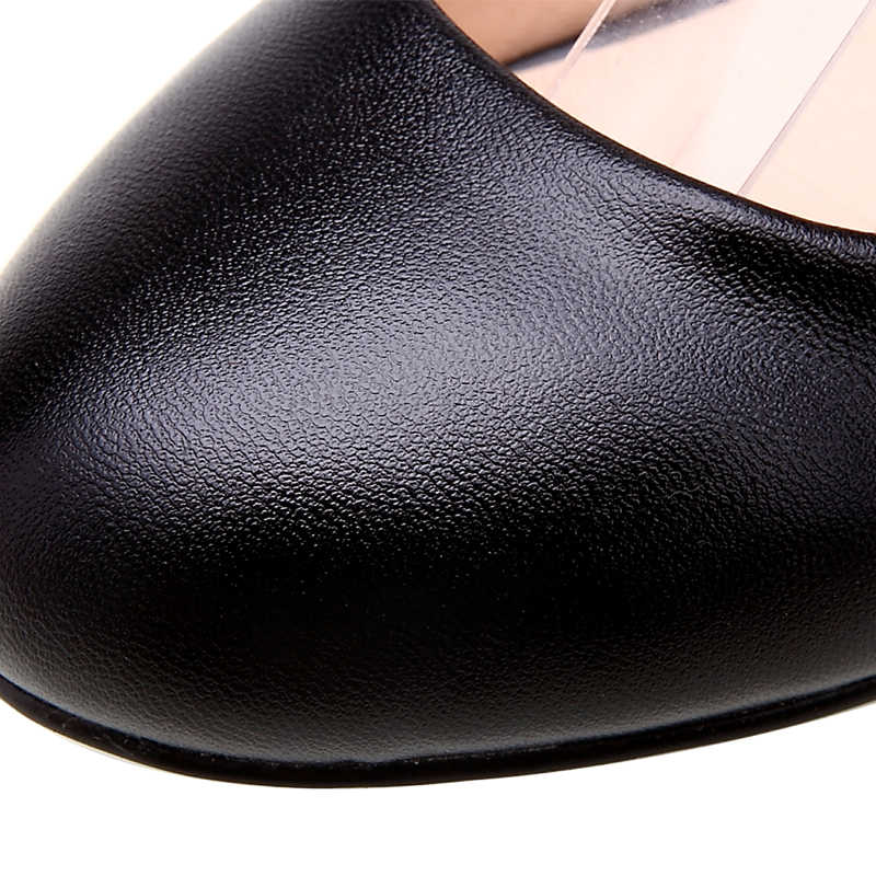 YALNN Yeni kadın Yüksek Topuklu Pompalar Seksi Gelin Parti Kalın Topuk Yuvarlak Ayak deri Yüksek Topuk Ayakkabı ofis bayan Kadın