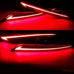 Image 5 - Taillight Style Red 3D Optic LED Rear Bumper Reflector driving Tail Brake Light Turning Lights For 2014~2016 Ford Fusion Mondeo