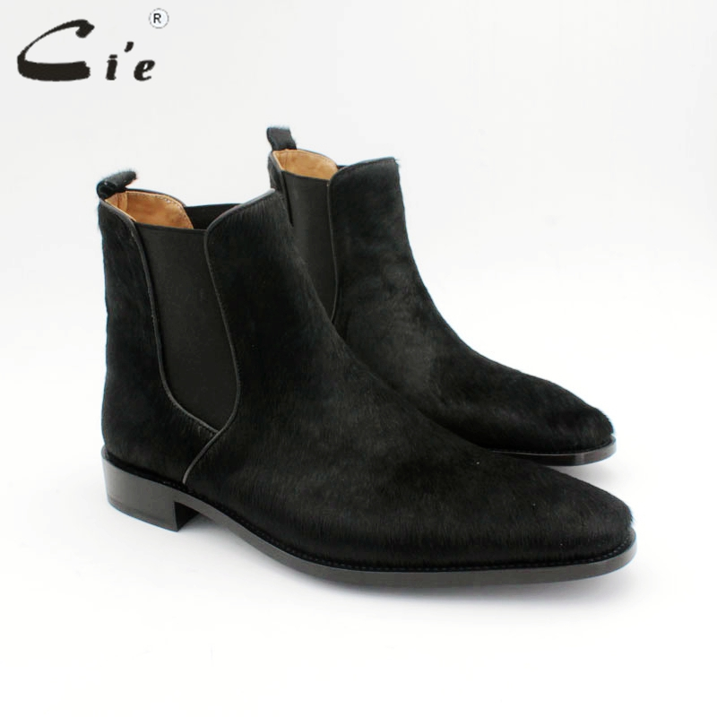 cie goodyear welted men's Chelsea boot genuine calf leather bottom outsole horsehair upper handmade multiply colors boot A170