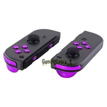 Chrome Purple Replacement ABXY Direction Keys SR SL L R ZR ZL Trigger Full Set Buttons w/ Tools for Nintendo Switch Joy-Con