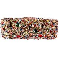 Fashion Rectangular Clutch Bag Of High Grade Crystal Encrusted Evening Bag Clutch Bag Quality
