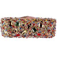 Fashion Rectangular Clutch Bag Of High Grade Crystal Encrusted Evening Bag Clutch Bag Quality
