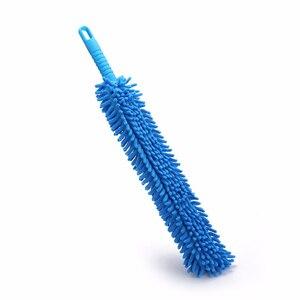Image 5 - Cepillos de microfibra para lavado de ruedas de coche, 1 Uds., Flexible, Extra largo, suave, chenilla, azul