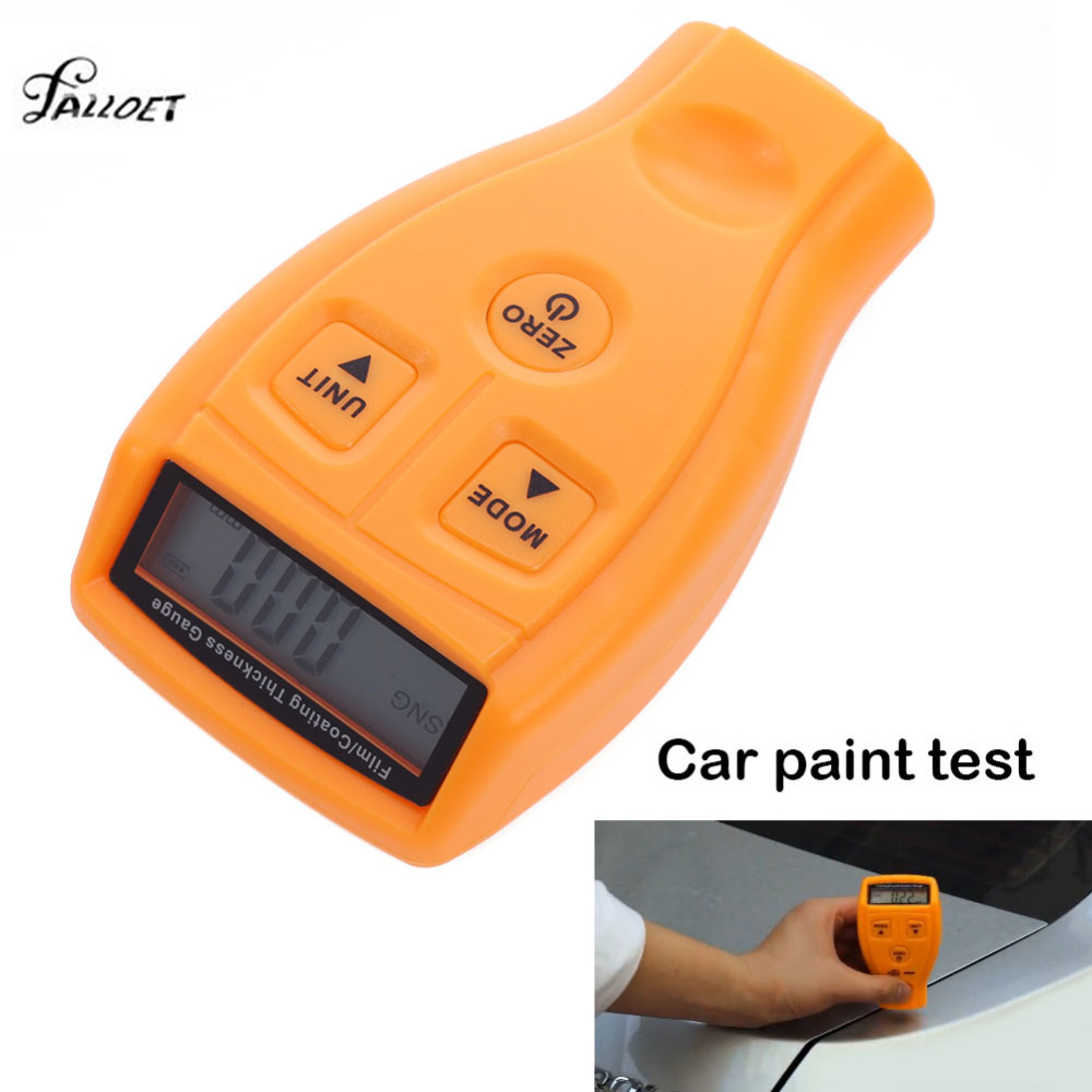 GM200 Coating Painting Thickness Gauge Tester Ultrasonic Film Mini Car Coating Measure Painting Thickness Gauges Russian English