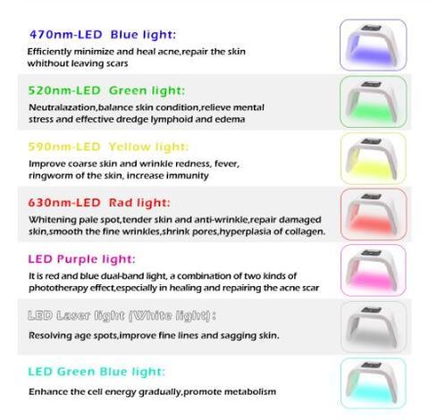 7 profissional cores pdt dispositivo de rejuvenescimento