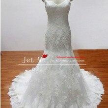 JOVASS 2018 real sample mermaid shoulder wedding dress