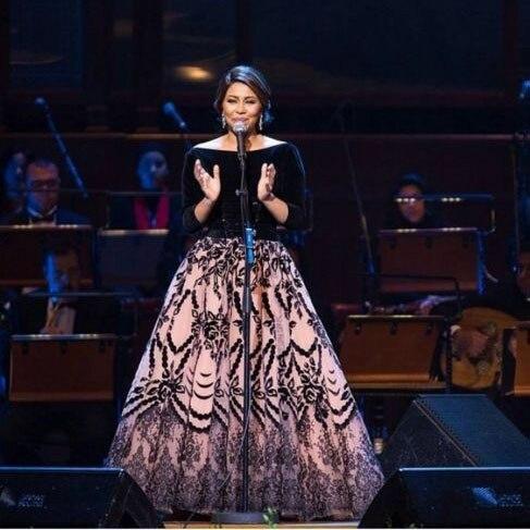 Arabian Black V Neck Long Sleeve Ball Gown Velvet Two Pieces Evening Dresses