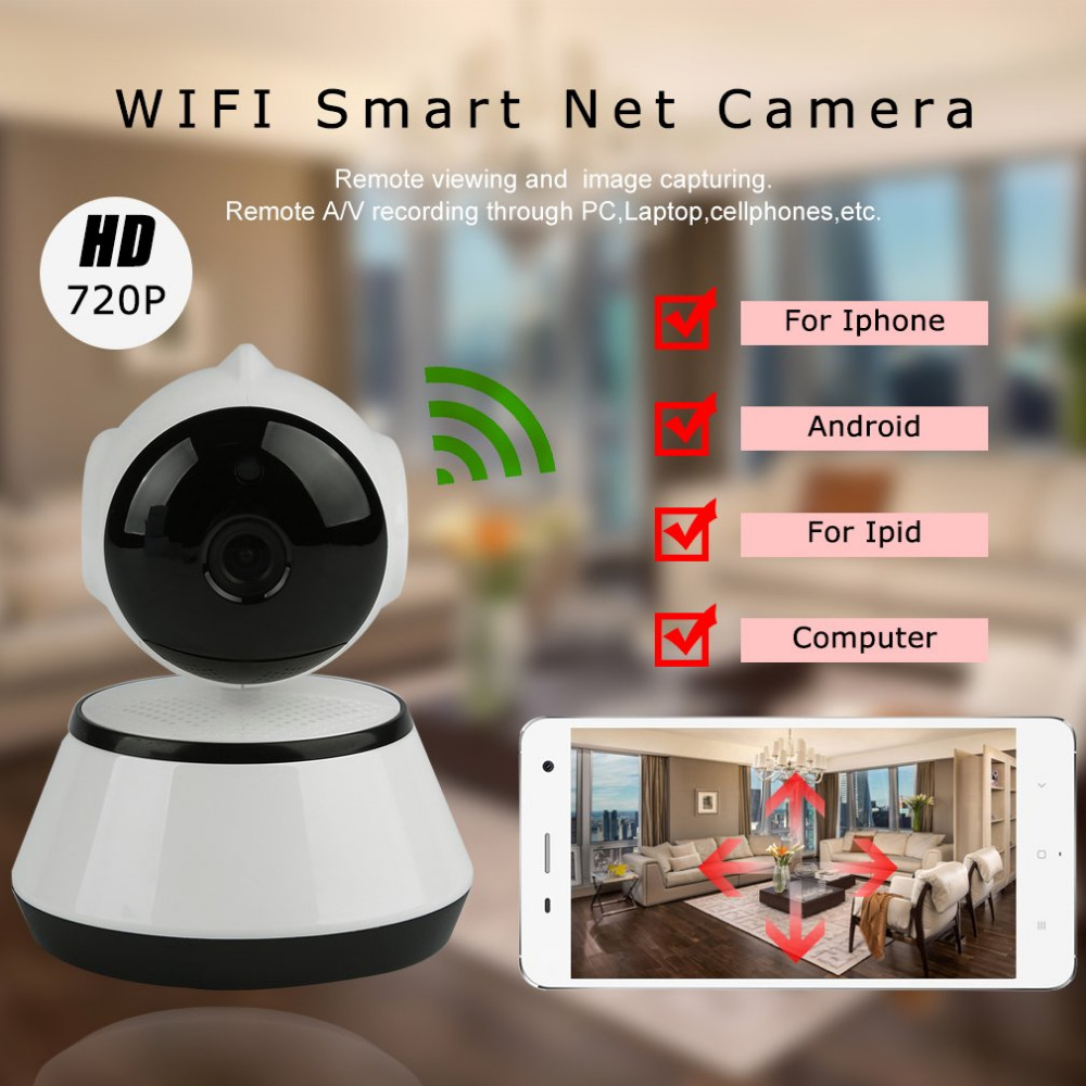 V380 HD 720P IP Camera WiFi Wireless Smart Security Camera Micro SD Network Rotatable Defender Home Telecam HD CCTV IOS PC pu aimetis ip camera wifi wireless network mini rotatable smart security camera defend for family hd cctv support android ios