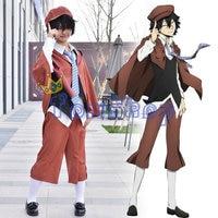 Anime Bungo Stray Dogs Ranpo Edogawa Cosplay Uniform Suit Full Set Halloween Costumes Outfit
