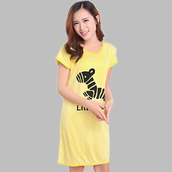 Women font b Nightgowns b font Summer Cartoon Night Dress Female Homewear Sleepwear Clothes Short Mini