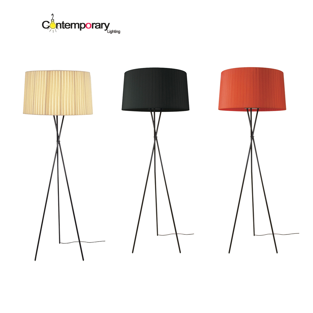 E27 Elegant Shine White Black Red Tripod Floor Lamp Suit A Variety Of  Spaces Like A