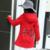 Coreano Patrón Casual Niños Niñas Rojo Negro Con Capucha Trench Coat Dress Arco Decorado Gran Abrigo de Invierno de Lana de Abrigo prendas de Vestir Exteriores