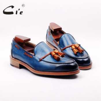 ci'e full grain calf leather bespoke goodyear welted mixed blue/brown custom handmade tassels slip-on men's shoe boat loafer 166 - Category 🛒 All Category