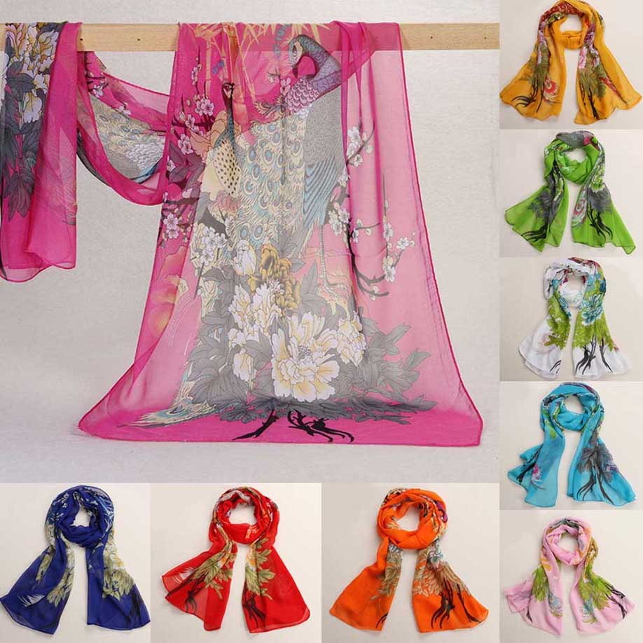MUQGEW New Arrival Beautiful Chiffon Soft Neck   Scarf   Shawl   Scarves   Stole   Wraps   Popular Fashion Style Comfortable   Scarves   Tippet