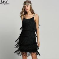 Fringe Spaghetti Strap Dress Fashion Style Women Sleeveless Beach Dress Flapper Costumes For Ladies Women Female