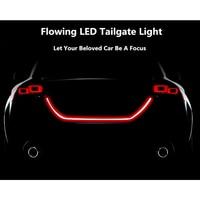 Autos Car Dual Color Flowing Type LED Light Strip Brake Running Tailgate Light