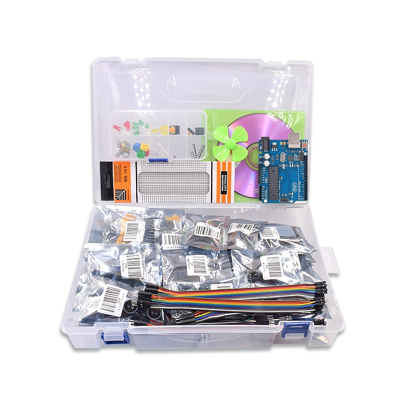 Free Shipping Diy UNO R3 Project Complete Starter Kit With Lesson CD For Arduino