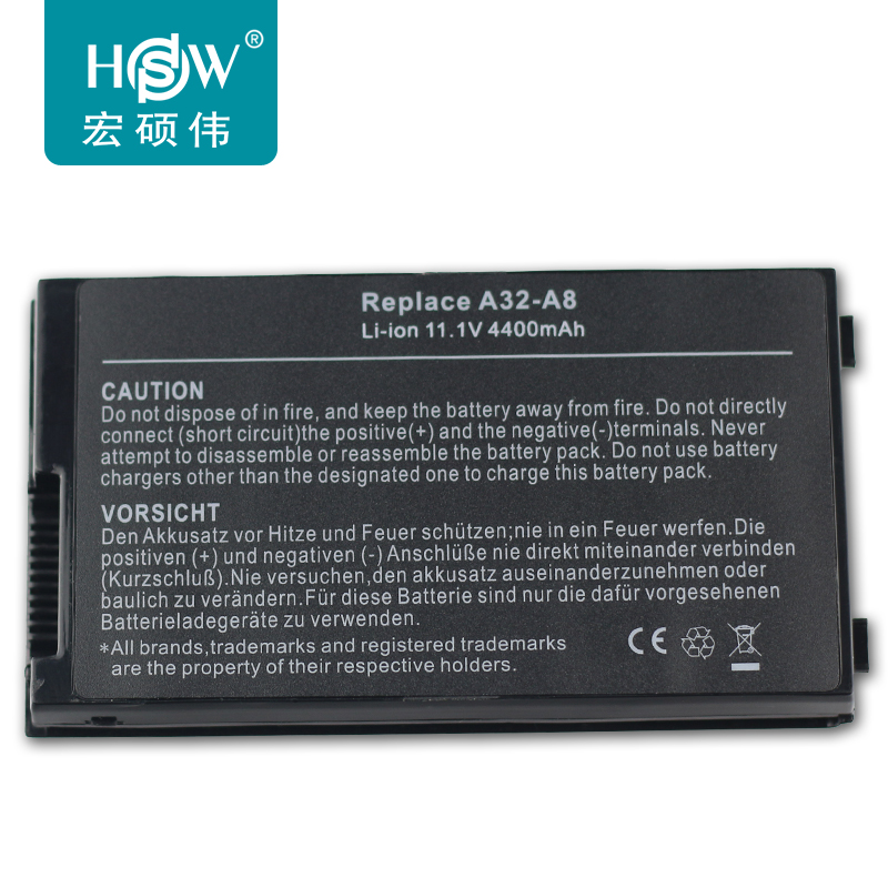 HSW font b Battery b font For ASUS F8 F8S H X80N X81 F8V A8000 n81v