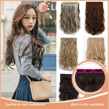Extention hairpiece resistant one heat wavy piece extension synthetic extensions clip