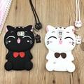 3D cute cartoon kitten soft silicone phone cover case for samsung galaxy J1 J3 J5 J7 A5 A7 2015 S3 S4 S5 S6 S7 edge note 3 4 5