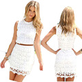 Summer Dress 2017 Sexy O-Neck Women Casual Sleeveless Beach Dress Tassel Solid White Mini Ladies Lace Dress Vestidos Plus Size