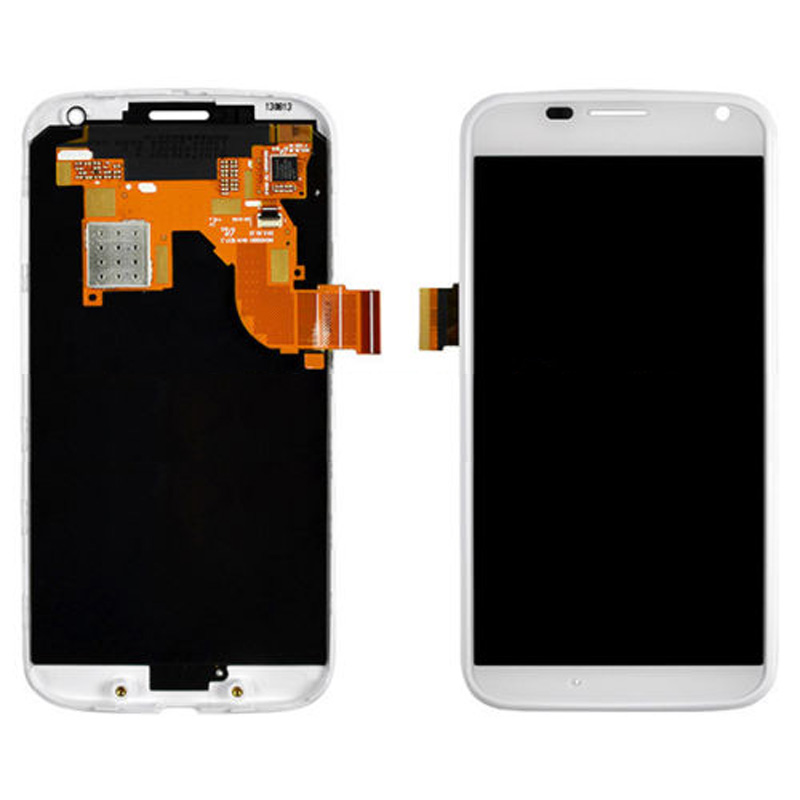 LCD Display Screen Touch Glass Digitizer Assembly For Motorola Moto X XT1060 XT1058 White