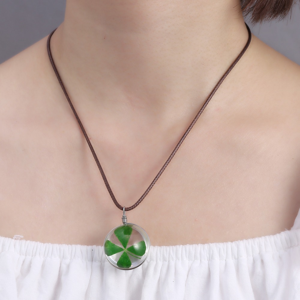 zoom necklace leaf hearts women clover swarovski crystal carol necklaces john greed white four