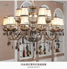 Crystal chandelier living room lamp French candle crystal Light Modern simple atmosphere simple chandelier bedroom restaurant