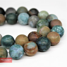 "Natural Stone Dull Polish Matte Indian Agata Beads Pick Size 16"" 4-14mm For Bracelet Necklace Making MIAB01(China)"
