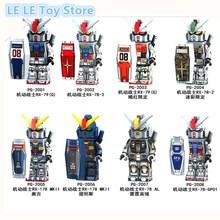 8 PÇS/LOTE PG8112 Super Heróis Terno Armadura Móvel Seed Destiny RX-178 MK-11 RX79 RX-78-2 Modelo Blocos de Construção Crianças Brinquedos de Presente