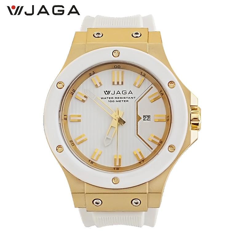 JAGA 2017 New Outdoor Fashion Men Quartz Watches Luxry Brand 100M Waterproof Military Wristwatch For Men AQ1122