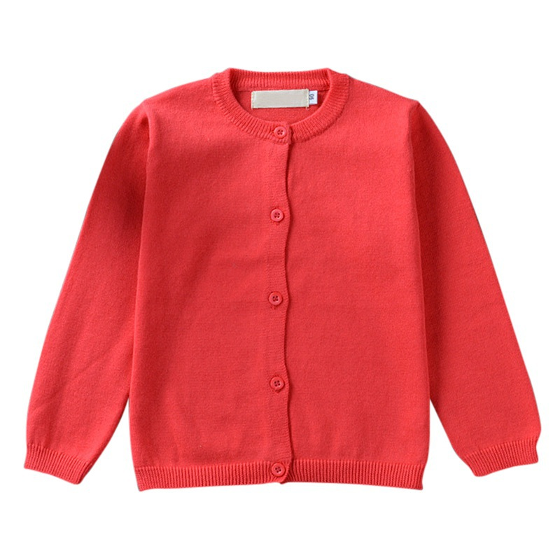 Baby Boys Girls Autumn Clothes Candy Color Knitted Cardigan Sweater Winter Buttom Coat Cotton Outerwear