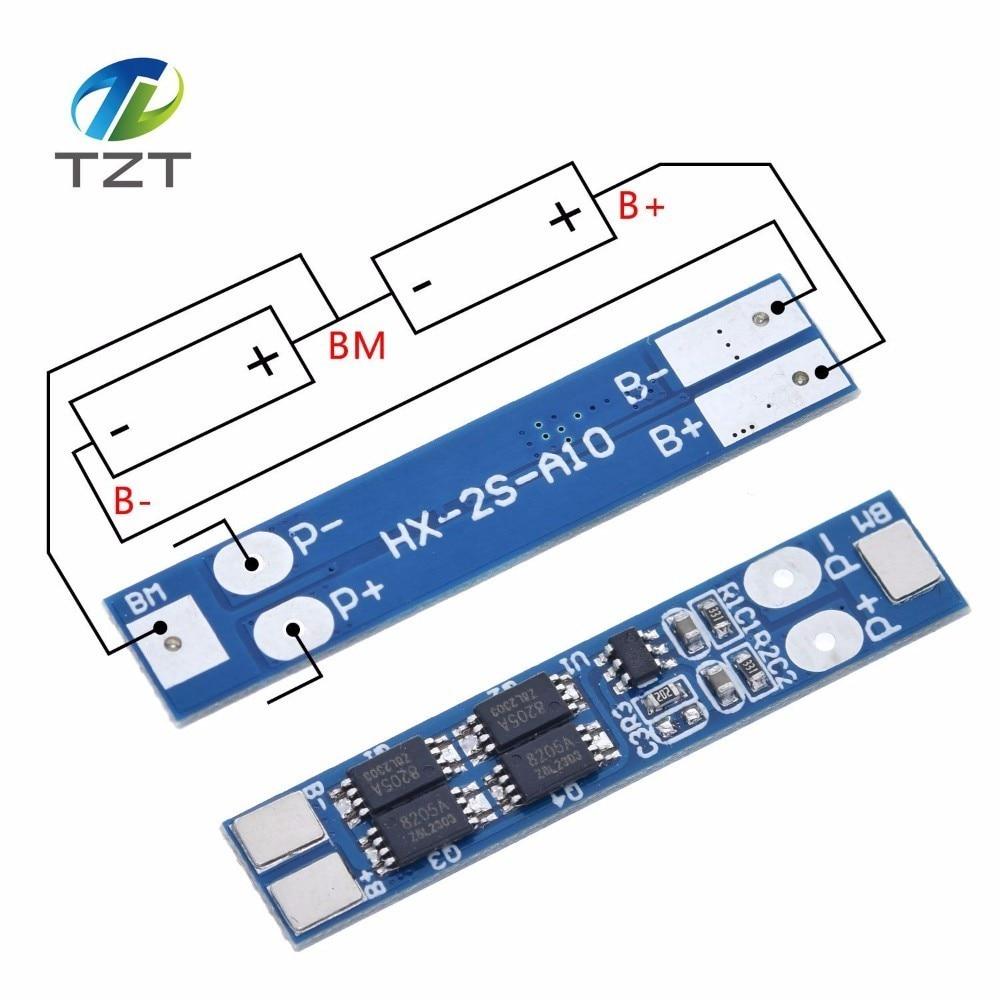 2S 7,4 V 8A Защитная плата зарядного устройства литий-ионного аккумулятора 18650 в Защита от перегрузки по току 8,4 в