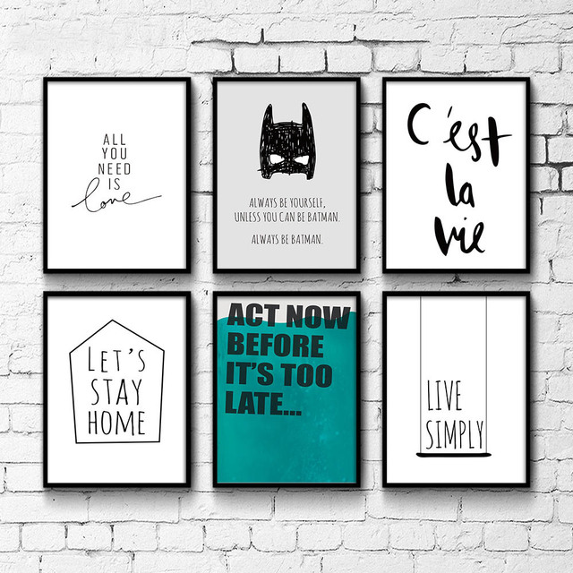 canvas prints for baby room. Inspirational Life Qute Canvas Posters Wall Art Prints Minimalist Painting Nursery Pictures Baby Room Decoration For