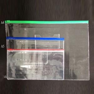 Image 5 - 20 ชิ้น/เซ็ตเครื่องเขียน A4/A5/A6 คุณภาพสูง PVC โปร่งใสขอบกระเป๋าแฟ้ม Office & School Supplies สำหรับใบแจ้งหนี้กระดาษข้อมูล
