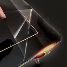 50cm x 200cm 2Mil parlak şeffaf mobilya masa cam koruyucu Film ev masa masası Sticker koruyucu yapıştırıcı ile
