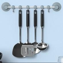 Многофункциональная настенная вешалка для ванной комнаты, кухонное полотенце, вешалка с 6 движущимися крючками
