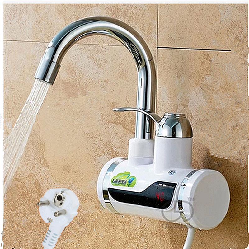 Kitchen Electric And Hot Water Faucet 3 Seconds Hot, Cold And Hot Dual Electric Water Heater